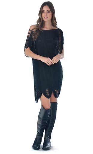 Vestido-Franjas-Liso