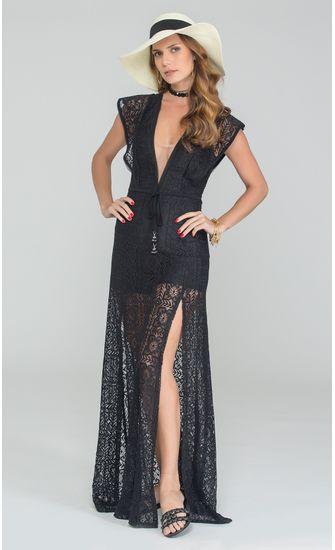Vestido-Longo-Decote-V-Renda-Francesa