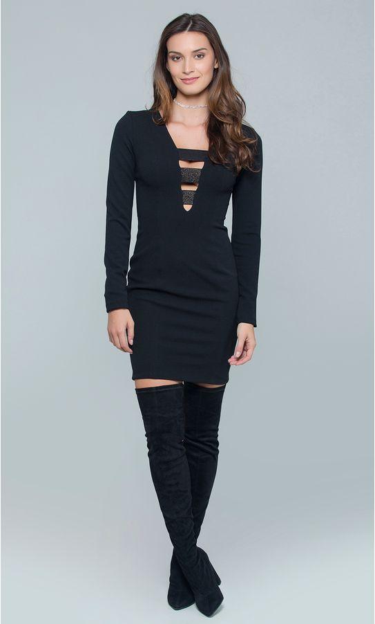 Vestido-Curto-Malha-Decote-Elastico-Metalizado-