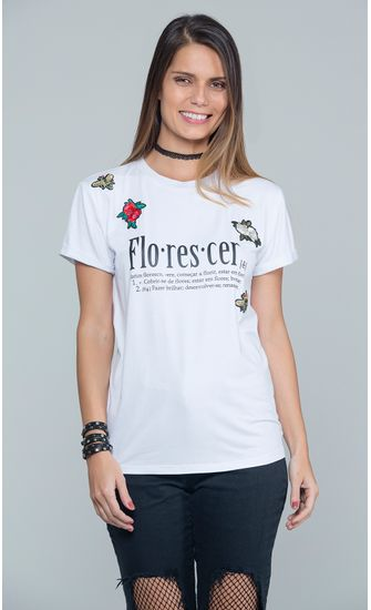 T-shirt-Malha-Silk-Florescer