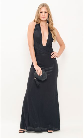 Vestido-Longo-Frente-Unica-Malha-Metalizada-