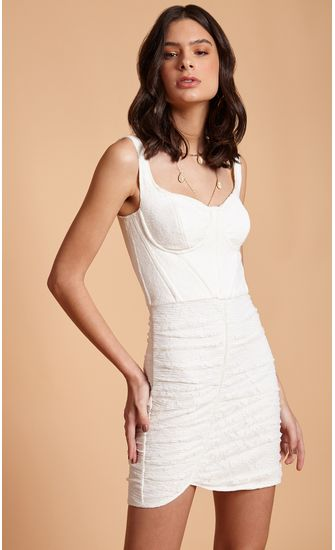 Vestido-Curto-Renda-Drapeado